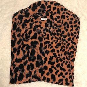 Equipment 100% silk sleeveless button down dress
